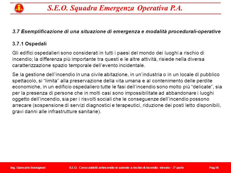 3.7 Esemplificazione di una situazione di emergenza e modalità procedurali-operative