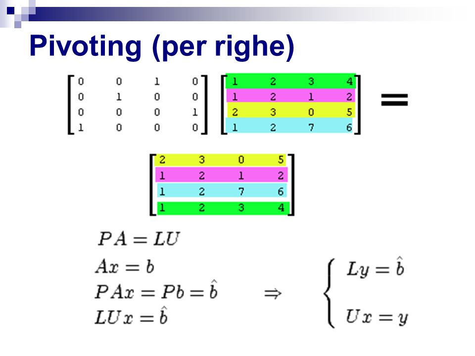 Pivoting (per righe)