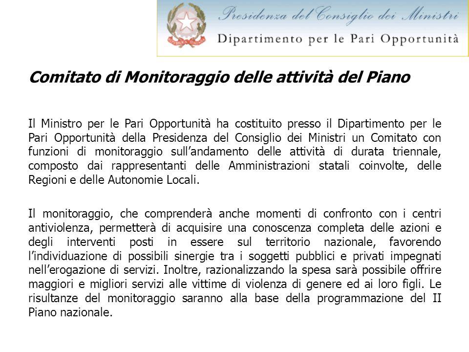 Comitato di Monitoraggio delle attività del Piano