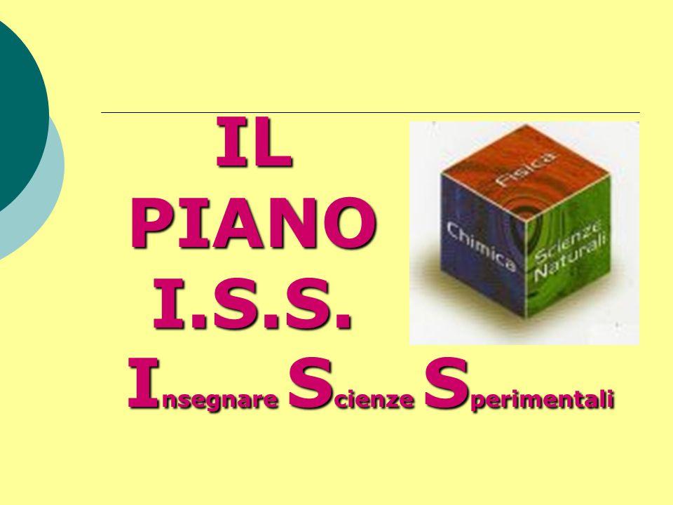 IL PIANO I.S.S. Insegnare Scienze Sperimentali
