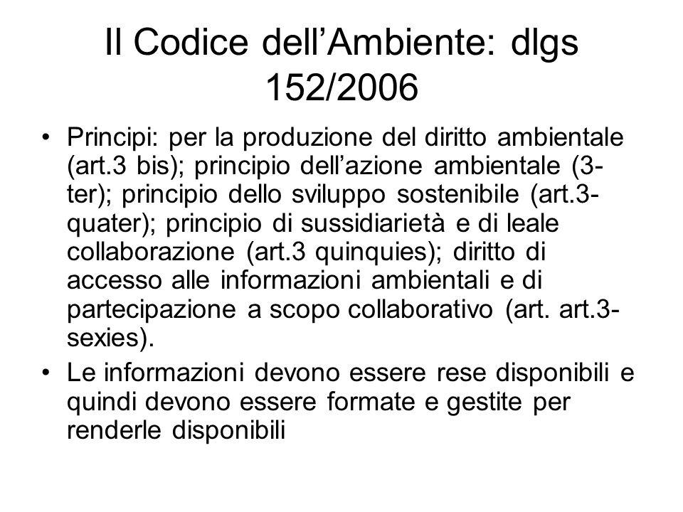 Il Codice dell'Ambiente: dlgs 152/2006