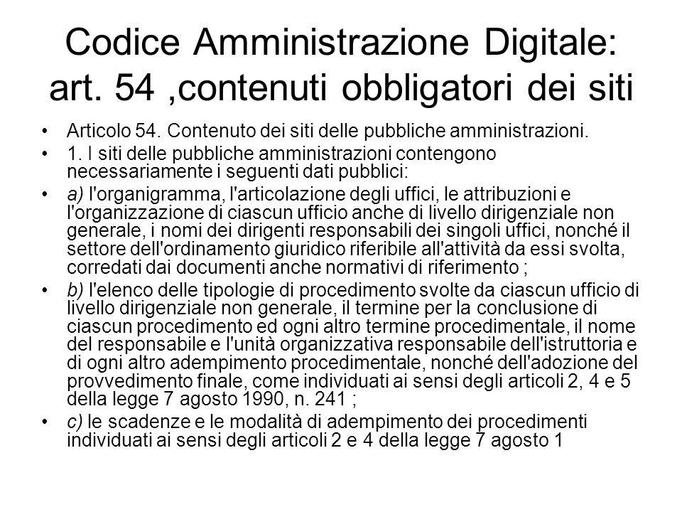 Codice Amministrazione Digitale: art