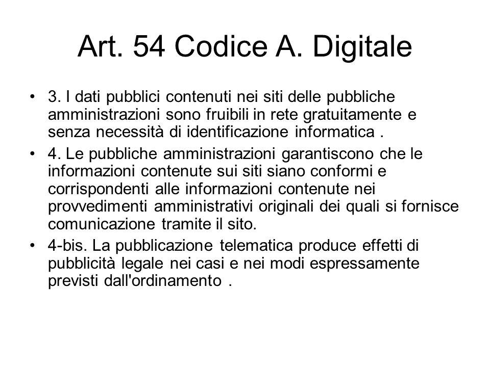 Art. 54 Codice A. Digitale