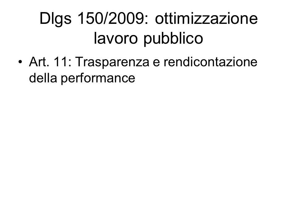 Dlgs 150/2009: ottimizzazione lavoro pubblico