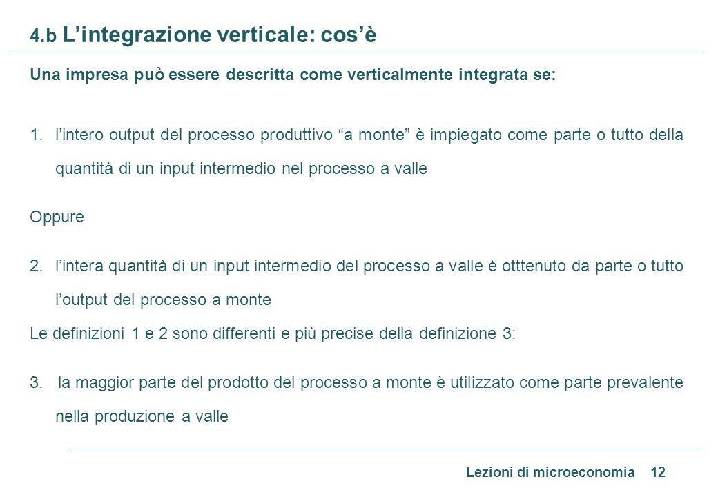 4.c L'integrazione verticale: determinanti