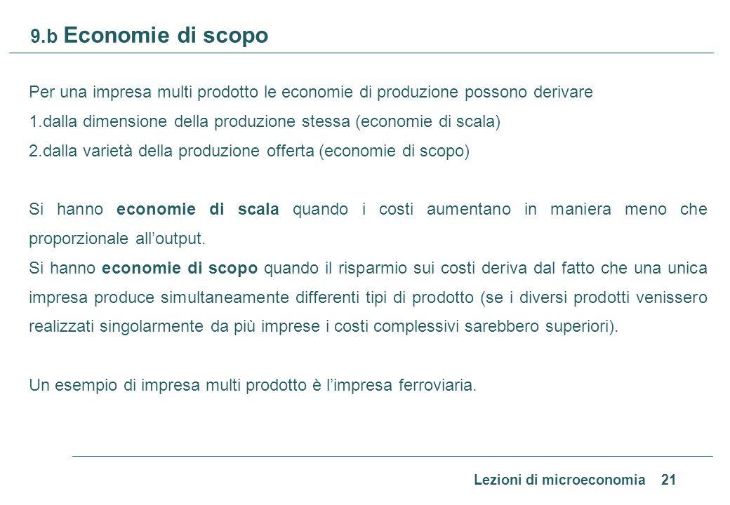 9.c. Economie di scopo in una impresa ferroviaria