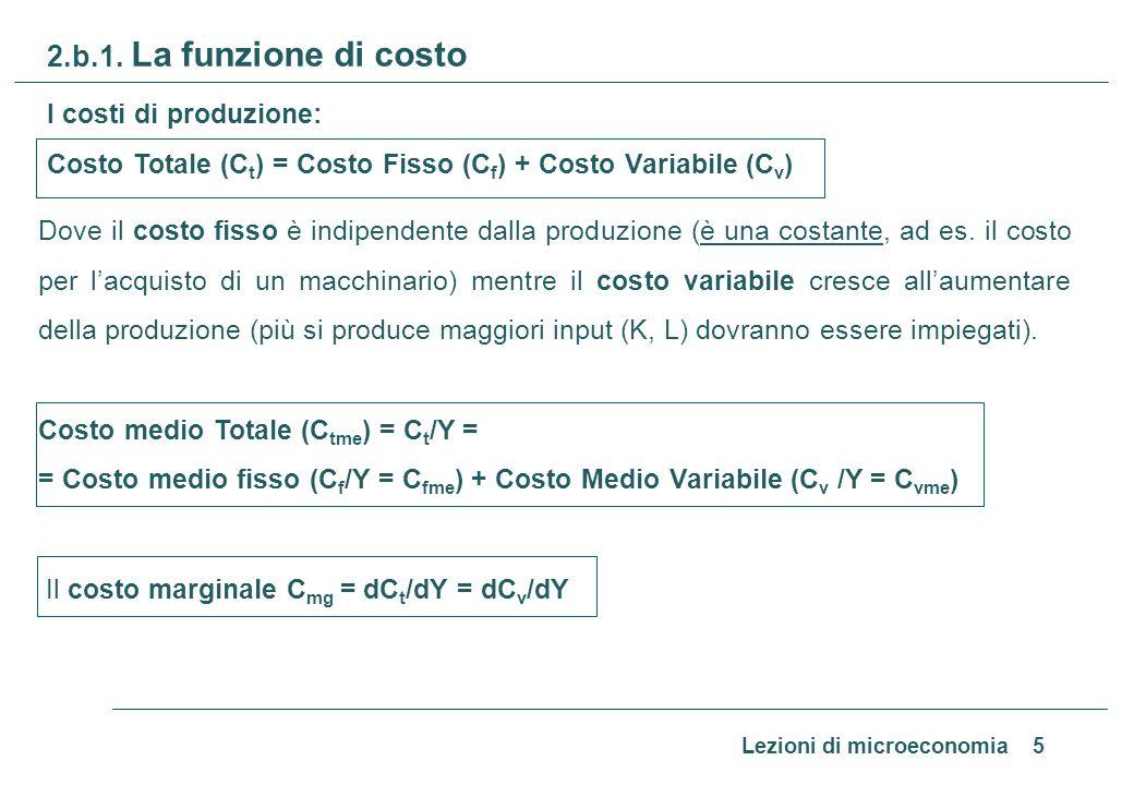 2.b.2 Il costo (rappresentazione grafica)