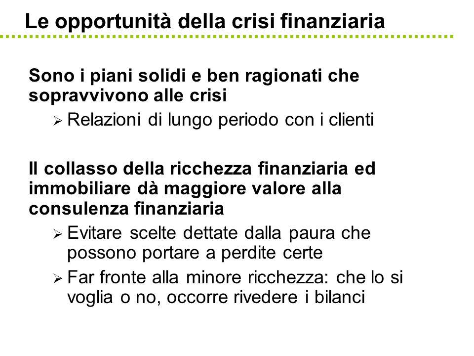 Le opportunità della crisi finanziaria