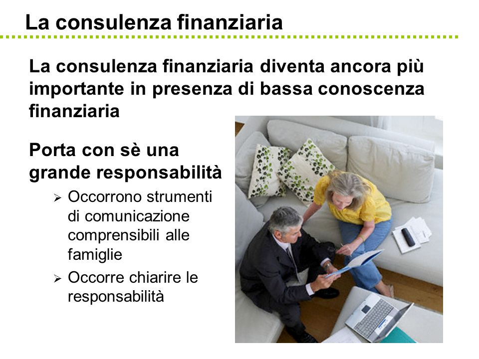 La consulenza finanziaria