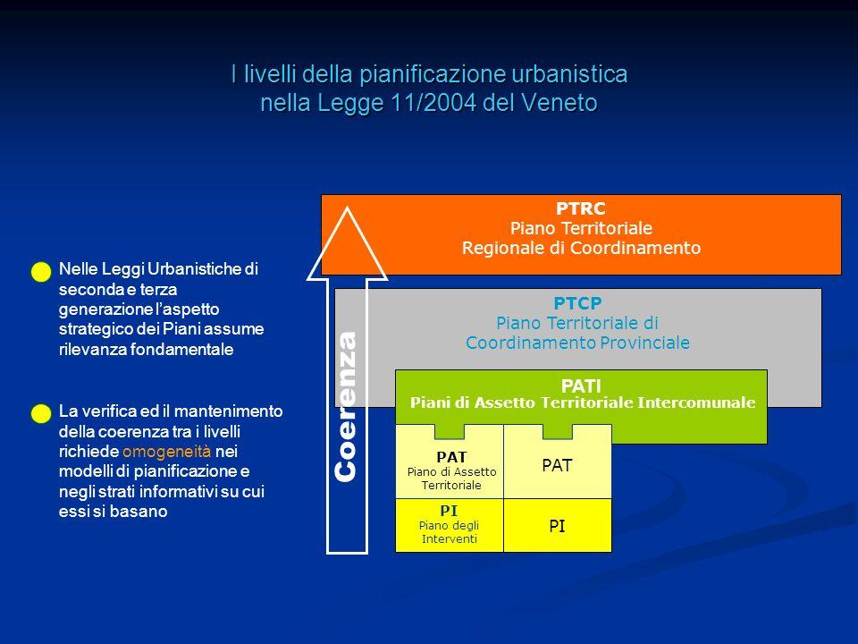 I livelli della pianificazione urbanistica nella Legge 11/2004 del Veneto