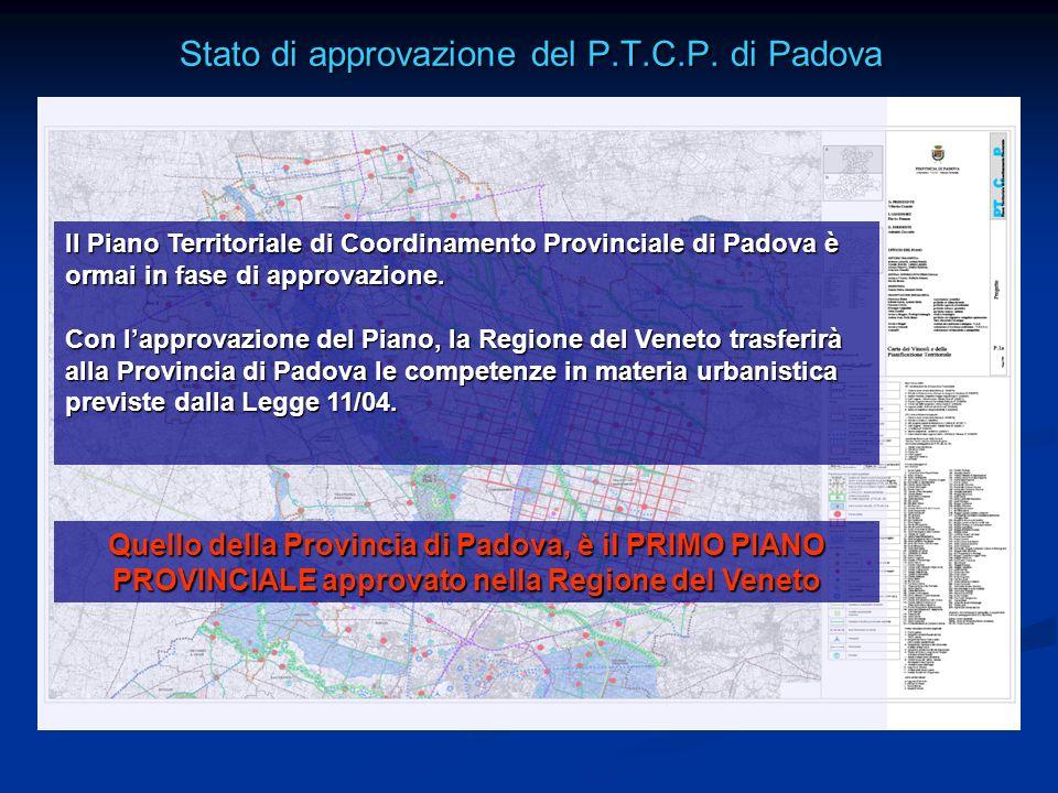 Stato di approvazione del P.T.C.P. di Padova