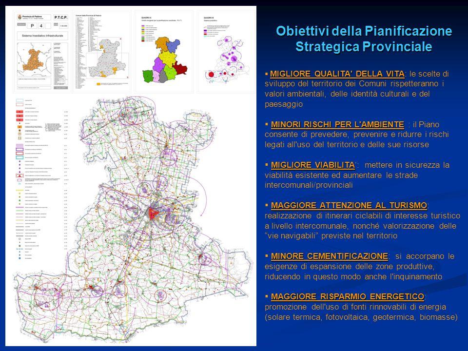 Obiettivi della Pianificazione Strategica Provinciale