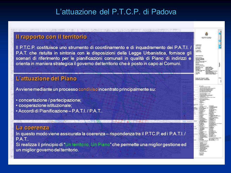 L'attuazione del P.T.C.P. di Padova