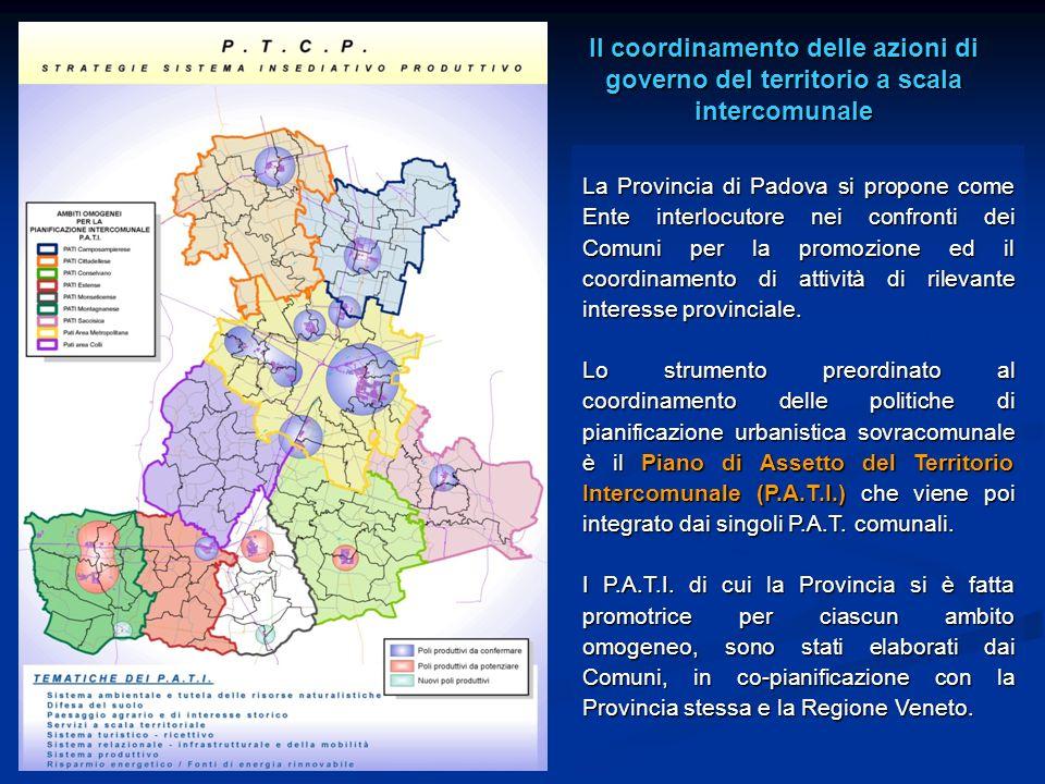 Il coordinamento delle azioni di governo del territorio a scala intercomunale