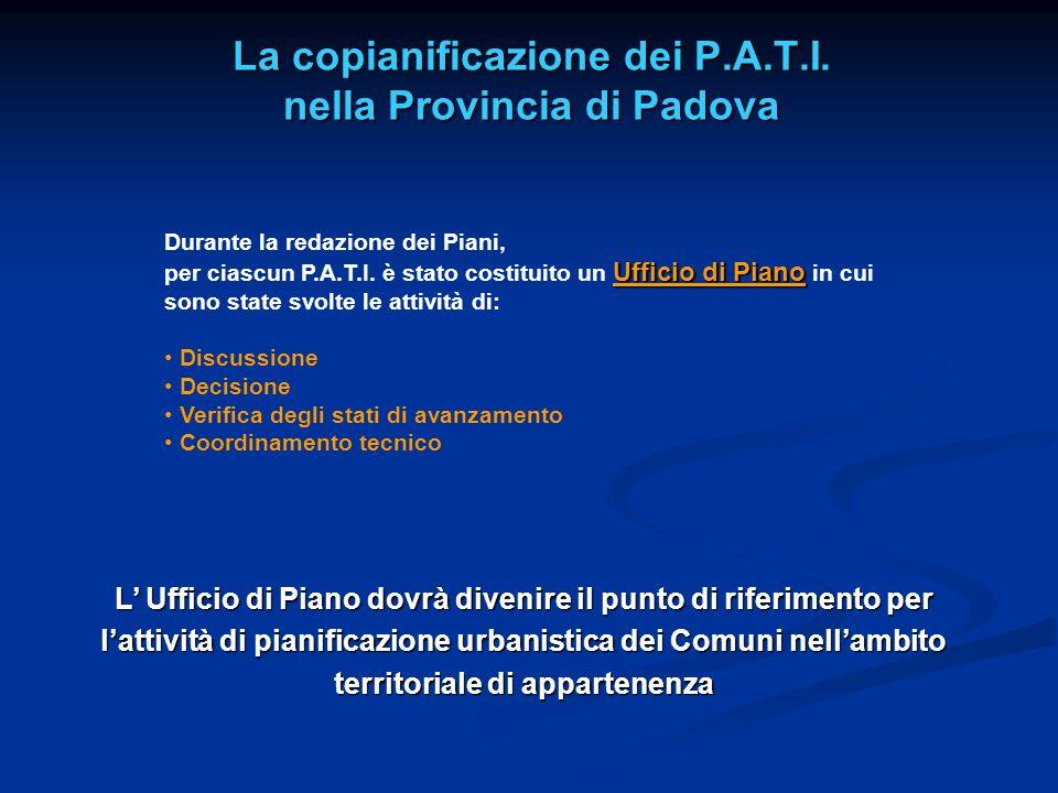 La copianificazione dei P.A.T.I. nella Provincia di Padova