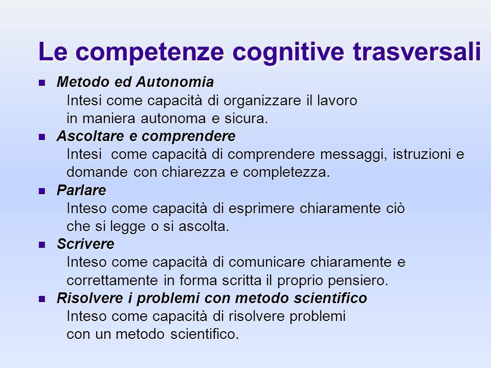 Le competenze cognitive trasversali
