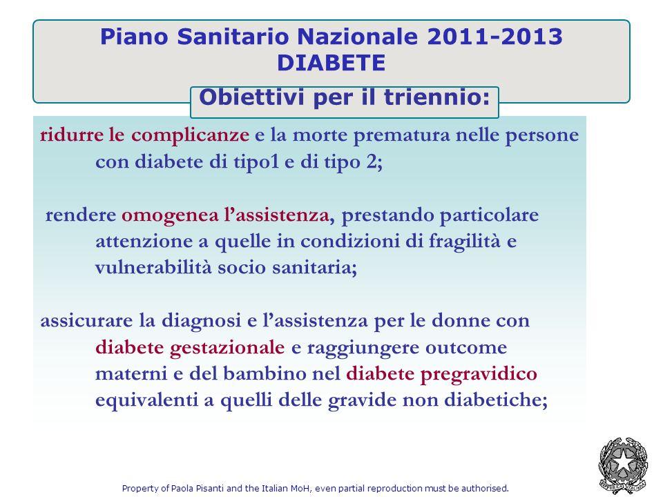 Piano Sanitario Nazionale 2011-2013 DIABETE