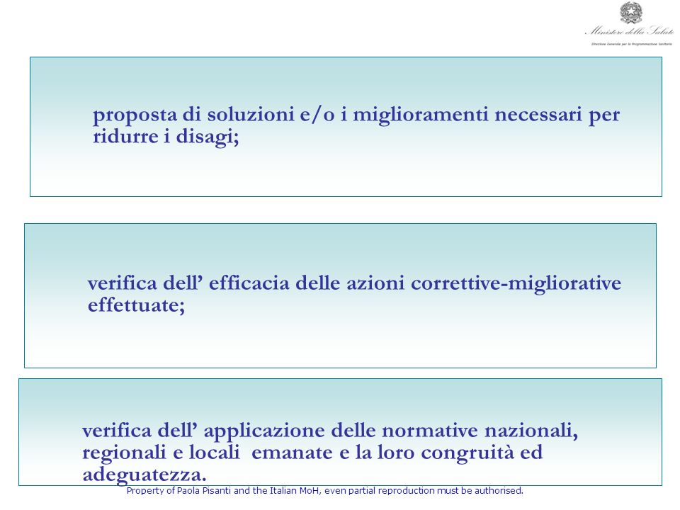 proposta di soluzioni e/o i miglioramenti necessari per ridurre i disagi;