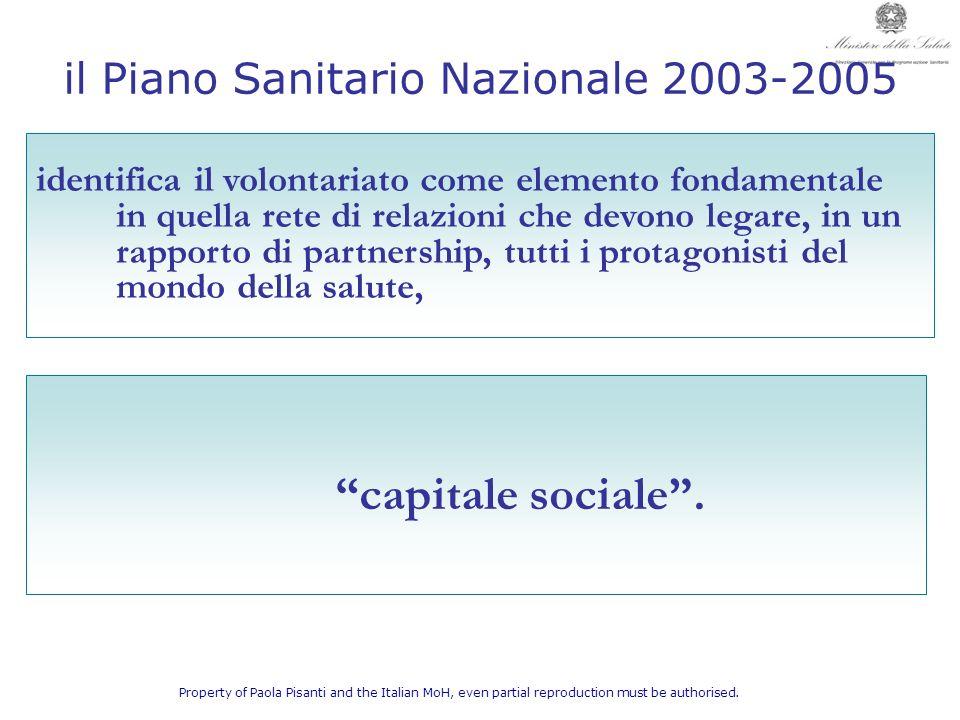 il Piano Sanitario Nazionale 2003-2005