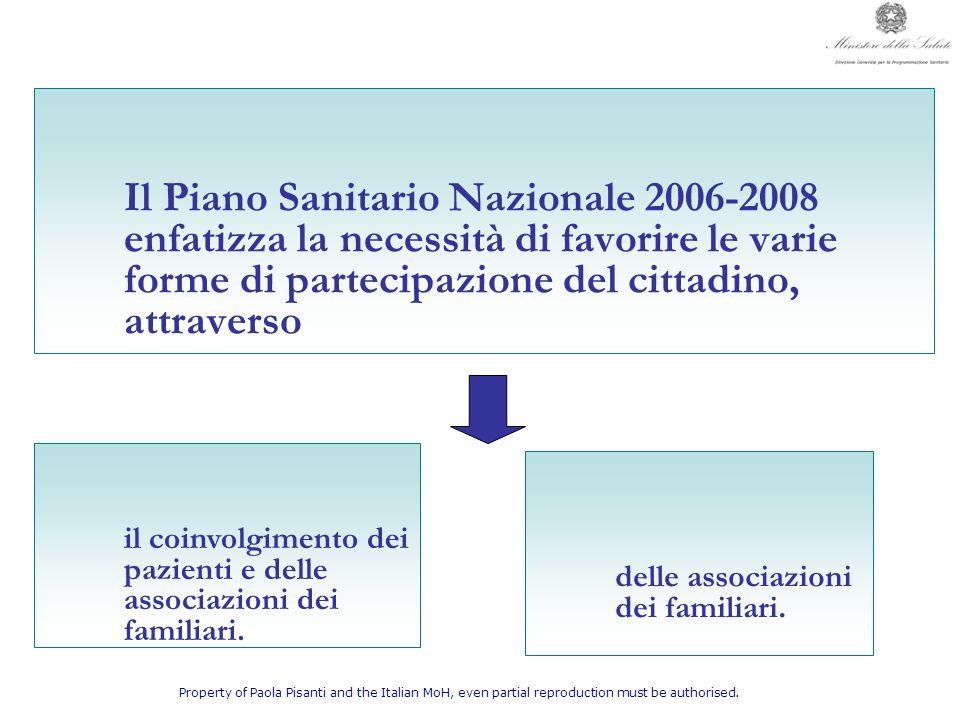 il coinvolgimento dei pazienti e delle associazioni dei familiari.