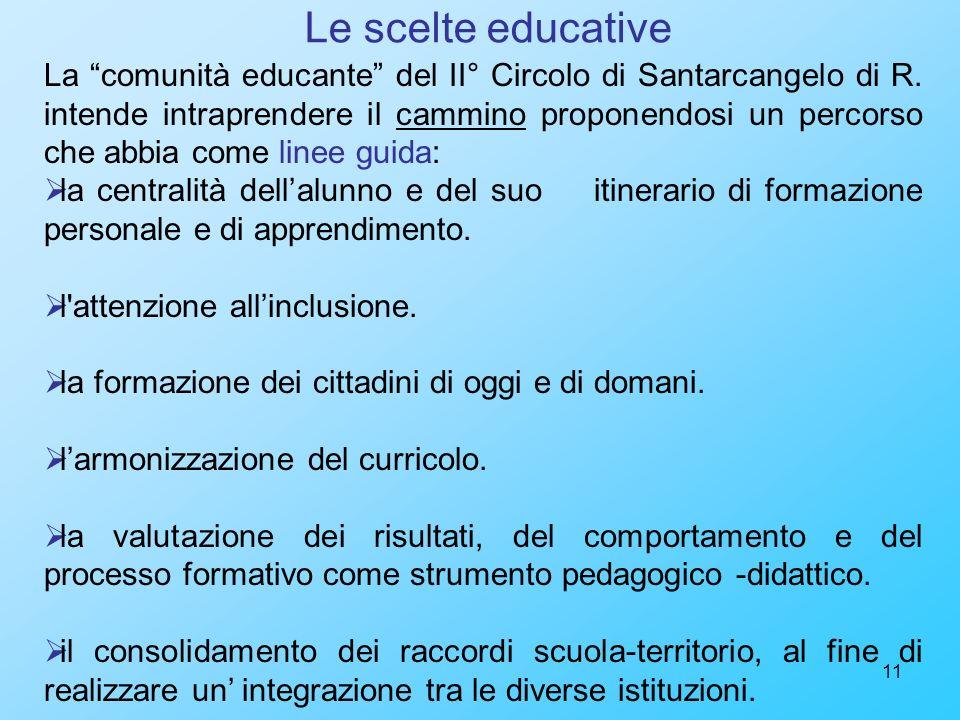 Le scelte educative