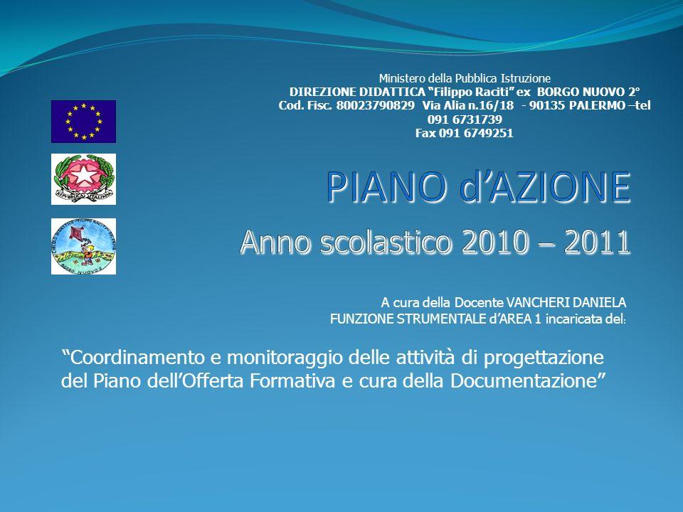 PIANO d'AZIONE Anno scolastico 2010 – 2011