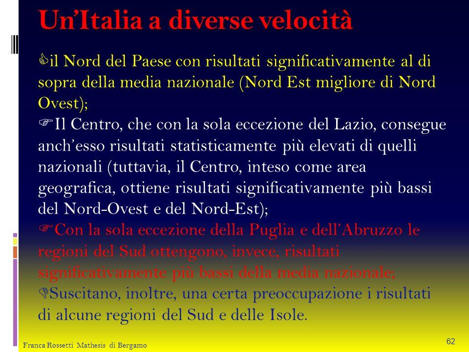Un'Italia a diverse velocità