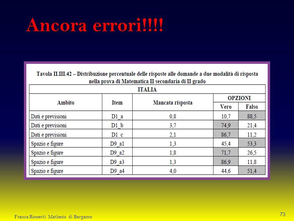 Ancora errori!!!! Franca Rossetti Mathesis di Bergamo