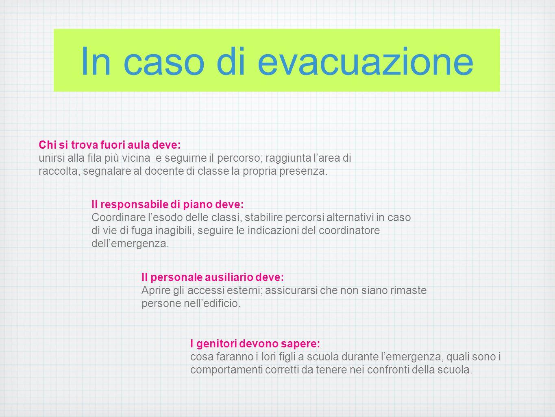 In caso di evacuazione Chi si trova fuori aula deve: