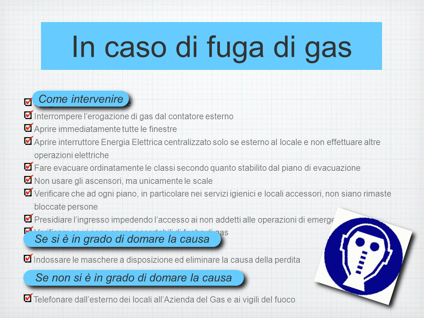 In caso di fuga di gas Come intervenire