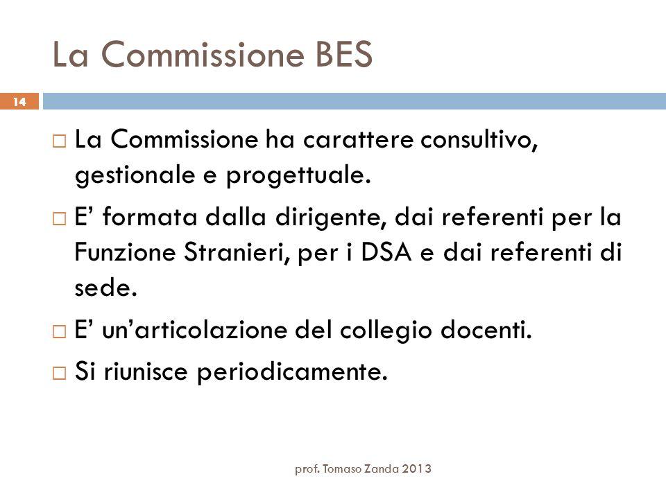 La Commissione BES 14. La Commissione ha carattere consultivo, gestionale e progettuale.