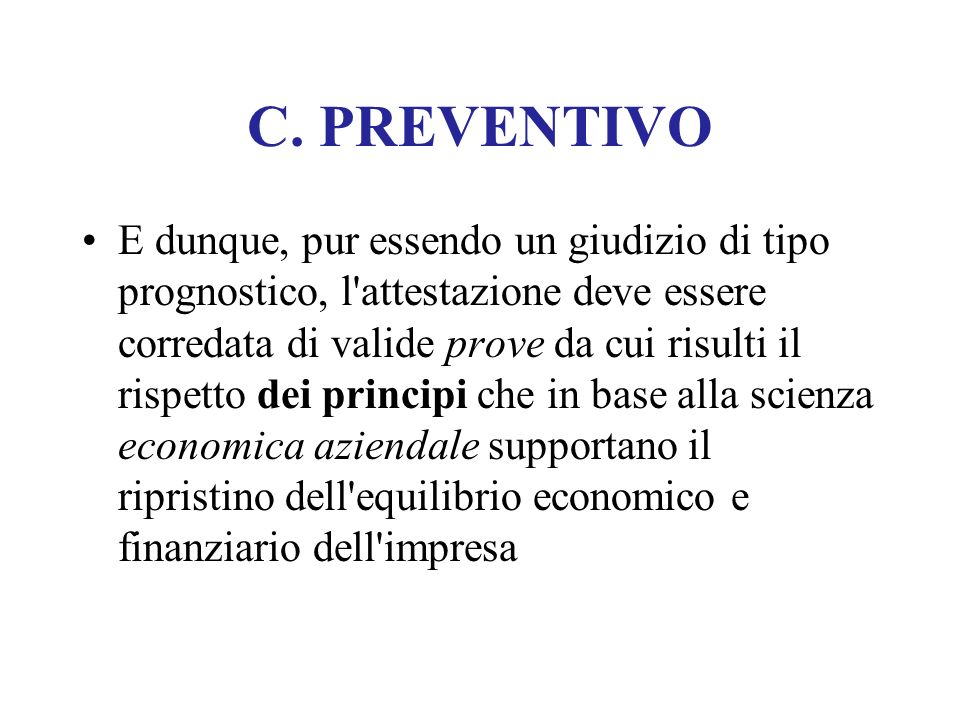 C. PREVENTIVO