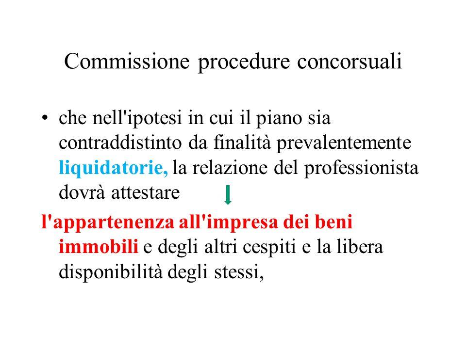 Commissione procedure concorsuali