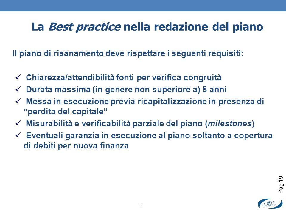 La Best practice nella redazione del piano