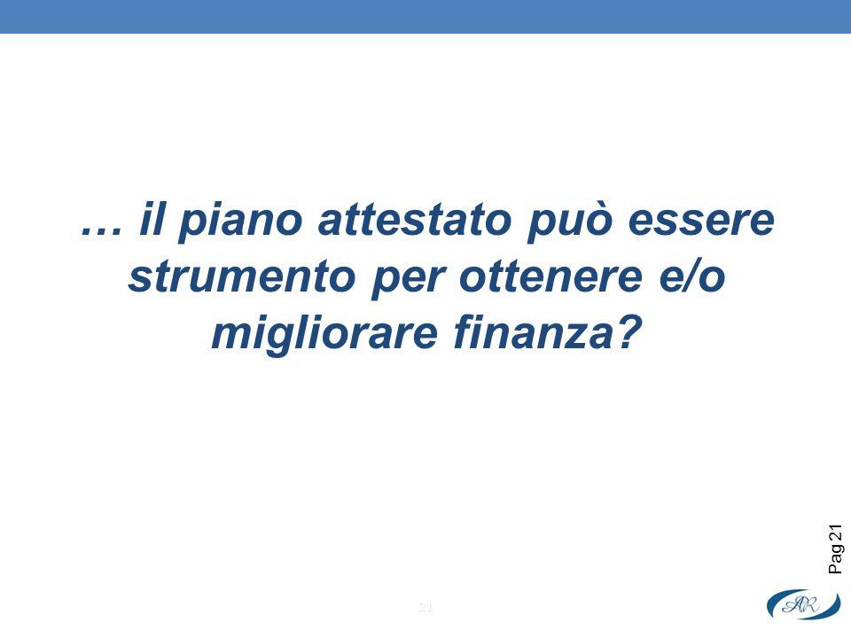 … il piano attestato può essere strumento per ottenere e/o migliorare finanza
