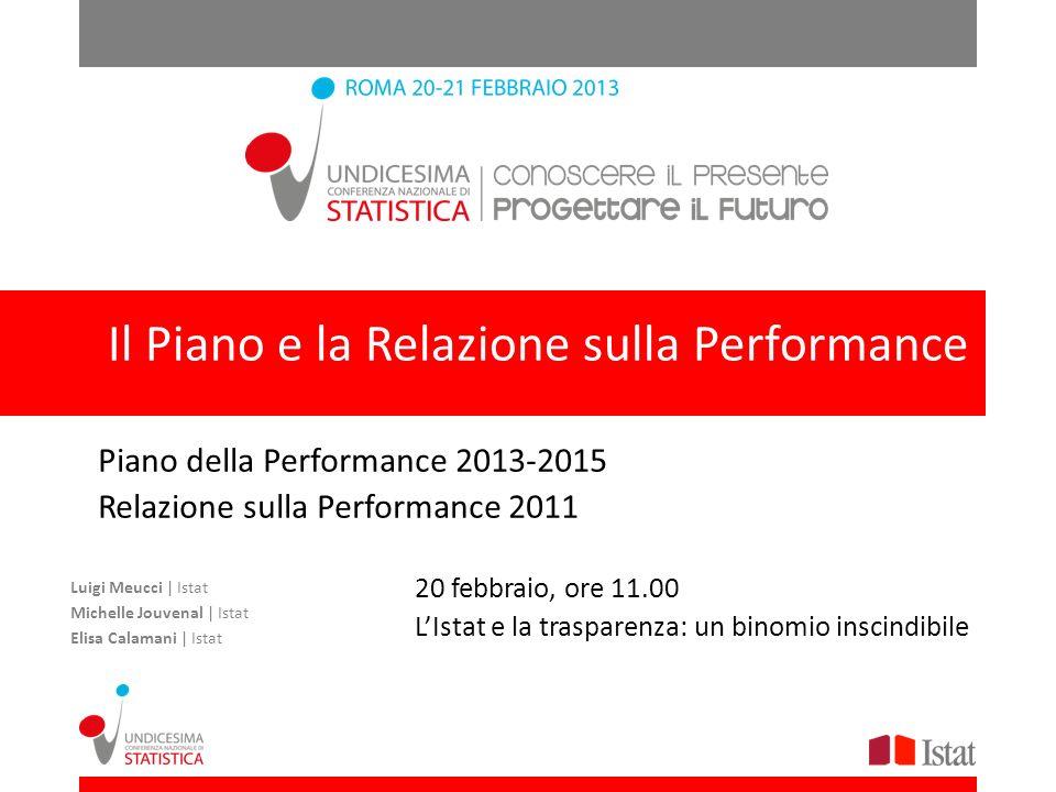 Il Piano e la Relazione sulla Performance