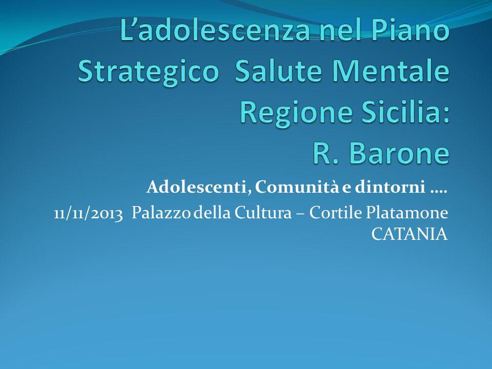 L'adolescenza nel Piano Strategico Salute Mentale Regione Sicilia: R