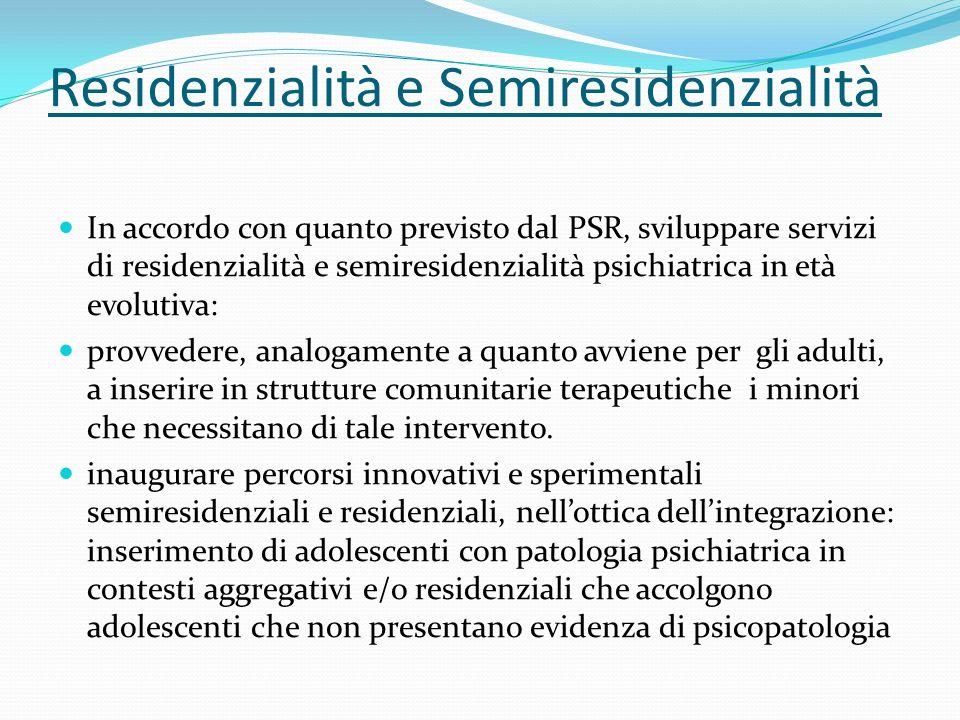 Residenzialità e Semiresidenzialità
