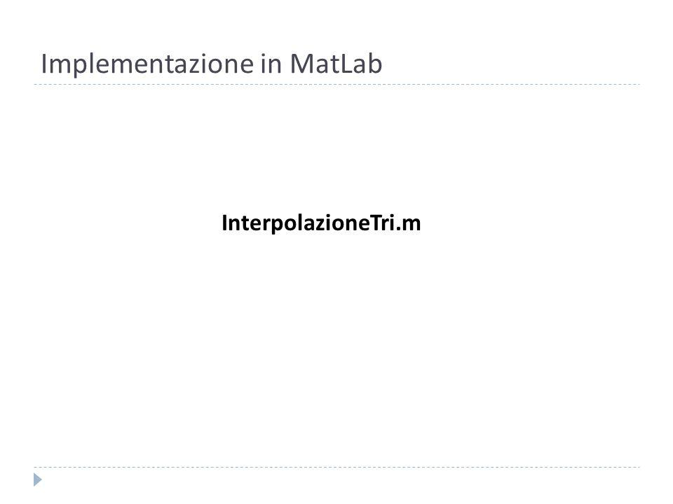 Implementazione in MatLab