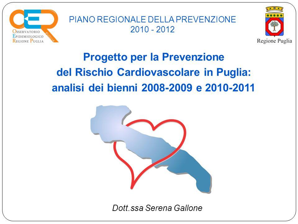 PIANO REGIONALE DELLA PREVENZIONE 2010 - 2012