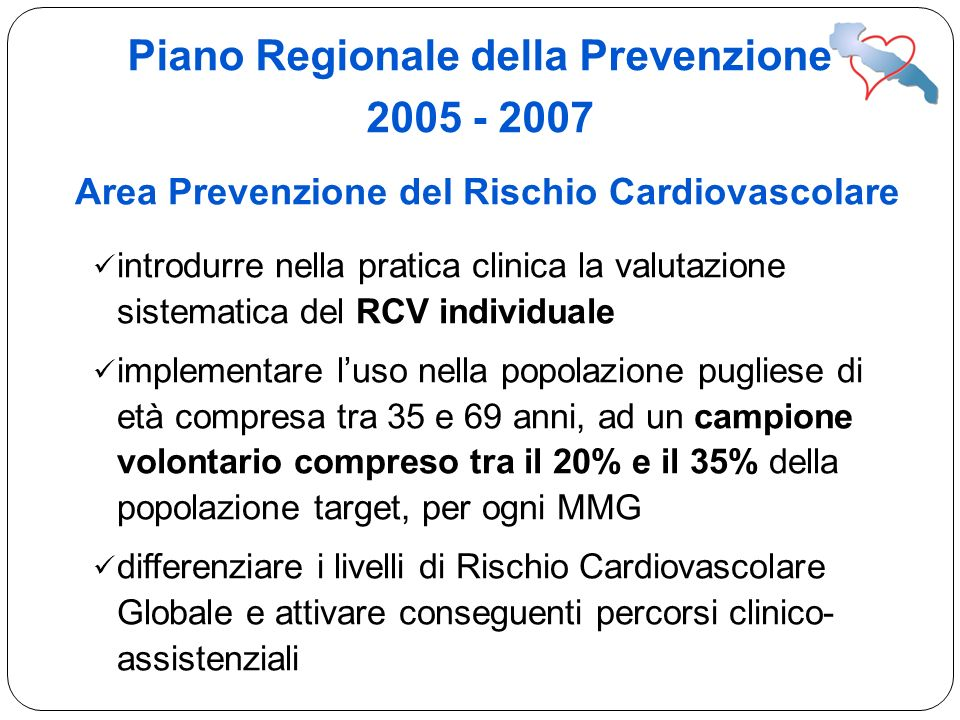 Piano Regionale della Prevenzione 2005 - 2007