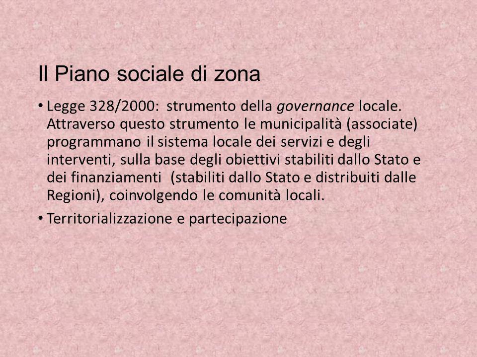 Il Piano sociale di zona
