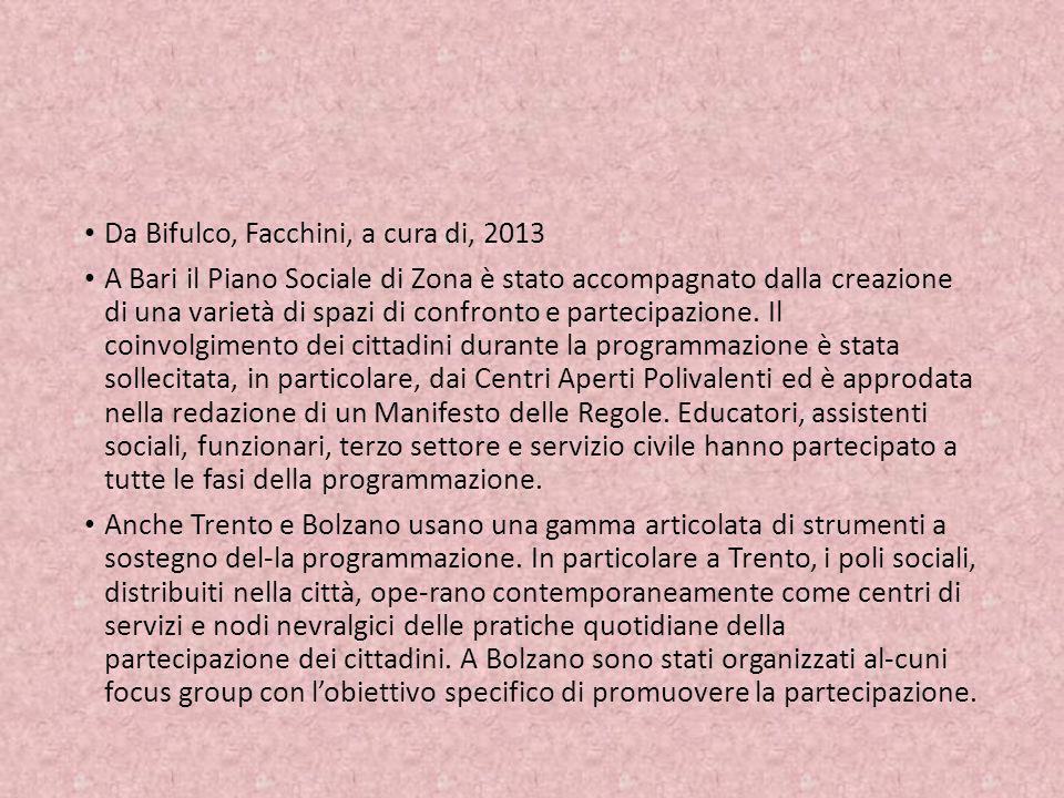 Da Bifulco, Facchini, a cura di, 2013