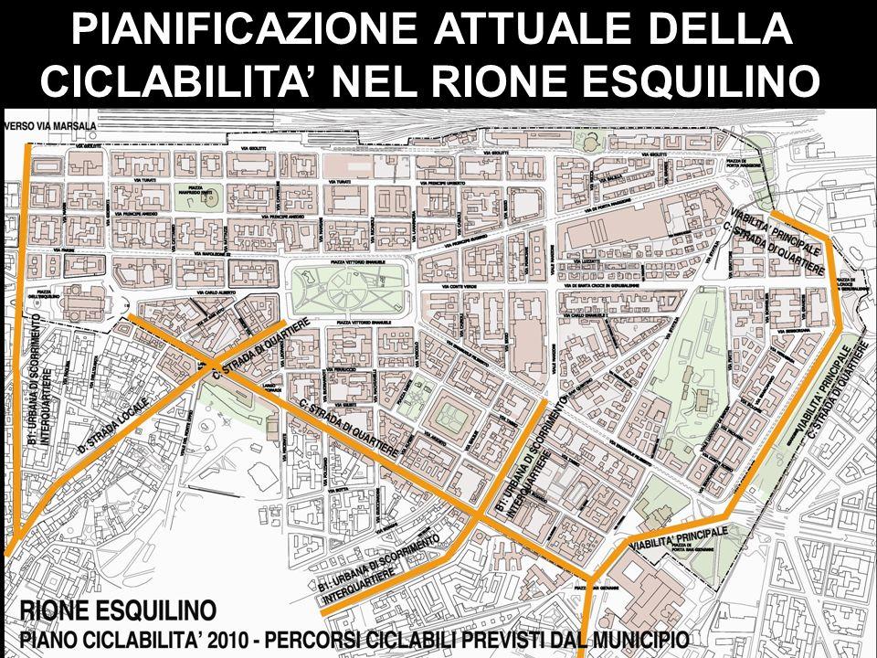 PIANIFICAZIONE ATTUALE DELLA CICLABILITA' NEL RIONE ESQUILINO