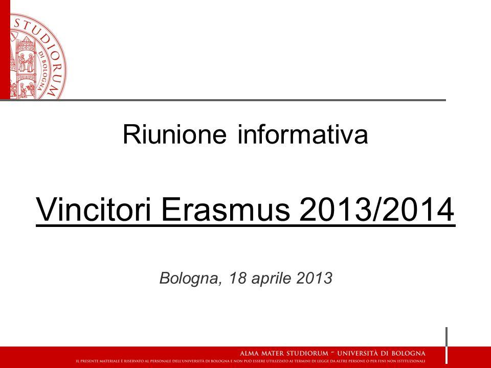 Riunione informativa Vincitori Erasmus 2013/2014