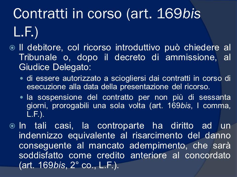 Contratti in corso (art. 169bis L.F.)