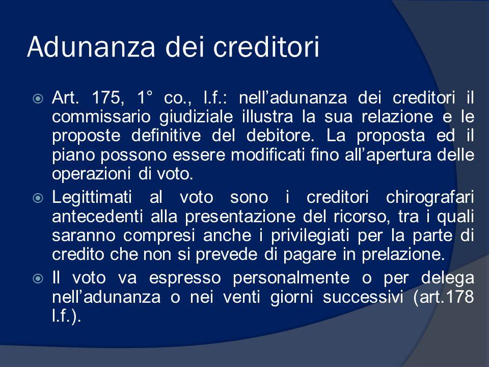 Adunanza dei creditori