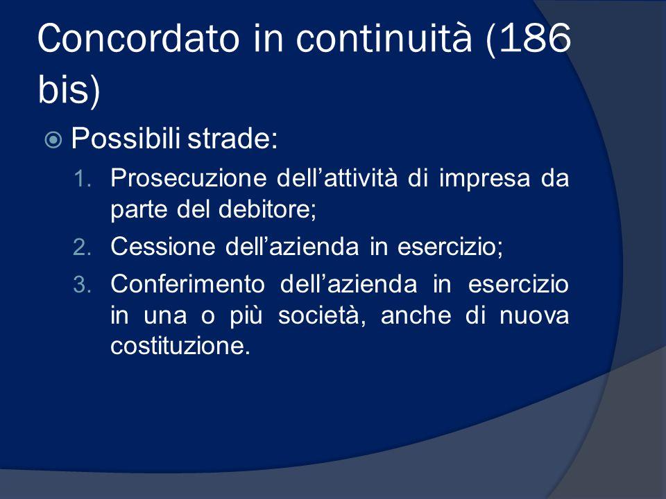 Concordato in continuità (186 bis)