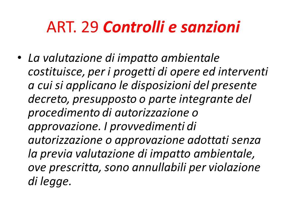 ART. 29 Controlli e sanzioni