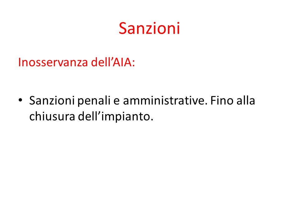Sanzioni Inosservanza dell'AIA: